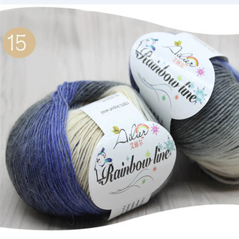 1Pcs Assorted Colors Yarn Skeins 20 Colors Soft Wool Crochet Knitting Yarn Craft