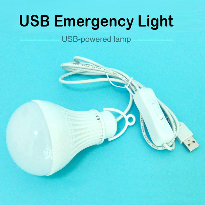 5V USB LED Energy-saving Light Bulb Mobile Power Lighting Outdoor Camping Reading College Students Dormitory USB LED Light footprint reading library 3000 alternative energy [book with multi rom x1 ]
