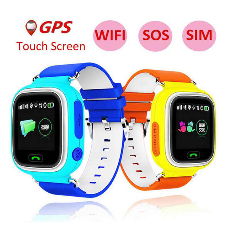 2019 New Arrival Q90 GPS Phone Positioning Fashion Children Watch 1.22 Inch Color Touch Screen WIFI SOS Smart Watch