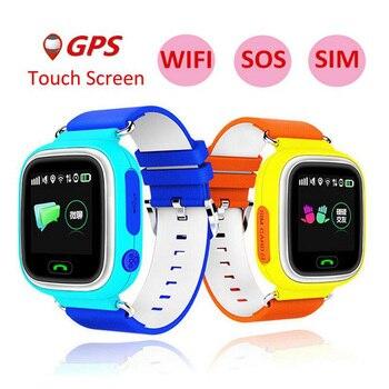 b009f2127 2019 nueva llegada Q90 teléfono GPS posicionamiento de los niños de la moda  reloj de Color de 1,22 pulgadas de pantalla táctil WIFI SOS reloj  inteligente