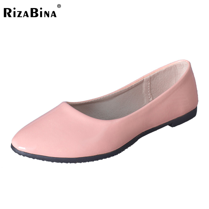 RizaBina Women Brand Candy Colors Girl Flat Shoes Hot Wholesale Soft Ballet Zapato Point Toe Women Casual Shoes Size35-41 WD0001 free shipping candy color women garden shoes breathable women beach shoes hsa21