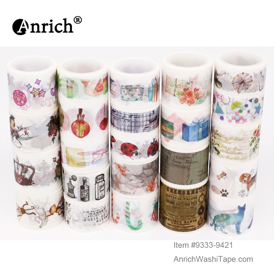 Free Shipping Washi Tape,Anrich Washi Tape ,basic Design,customizable,#9333-9421