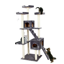 Cat Furniture H182/156cm Big-size Cat Climbing Tree Tower With Ladder Scratching Post Pet Toys for Cats Kitten Playing House