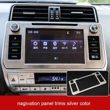lsrtw2017 stainless steel car navigation panel trims for toyota land cruiser prado 2018 2019 2020 lsrtw2017 stainless steel car trunk trims for toyota camry 2018 2019 xv70
