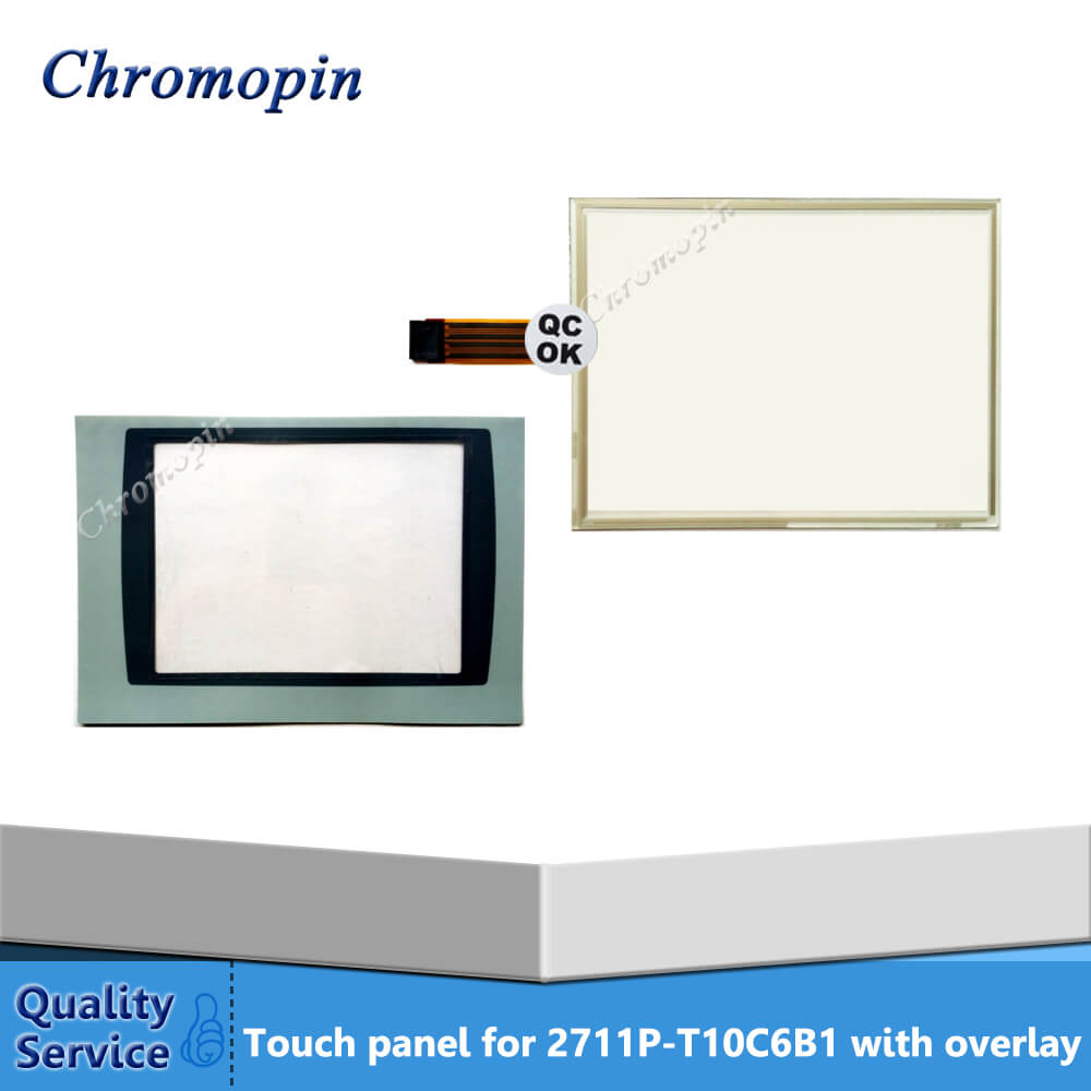 Touch panel for AB 2711P-T10C6B1 2711P-T10C6B2 PanelView Plus 1000 with Front overlay touch screen for ab 2711p b7c1d6 2711p b7c10d6 2711p b7c1d2 2711p b7c10d2 panelview plus ce