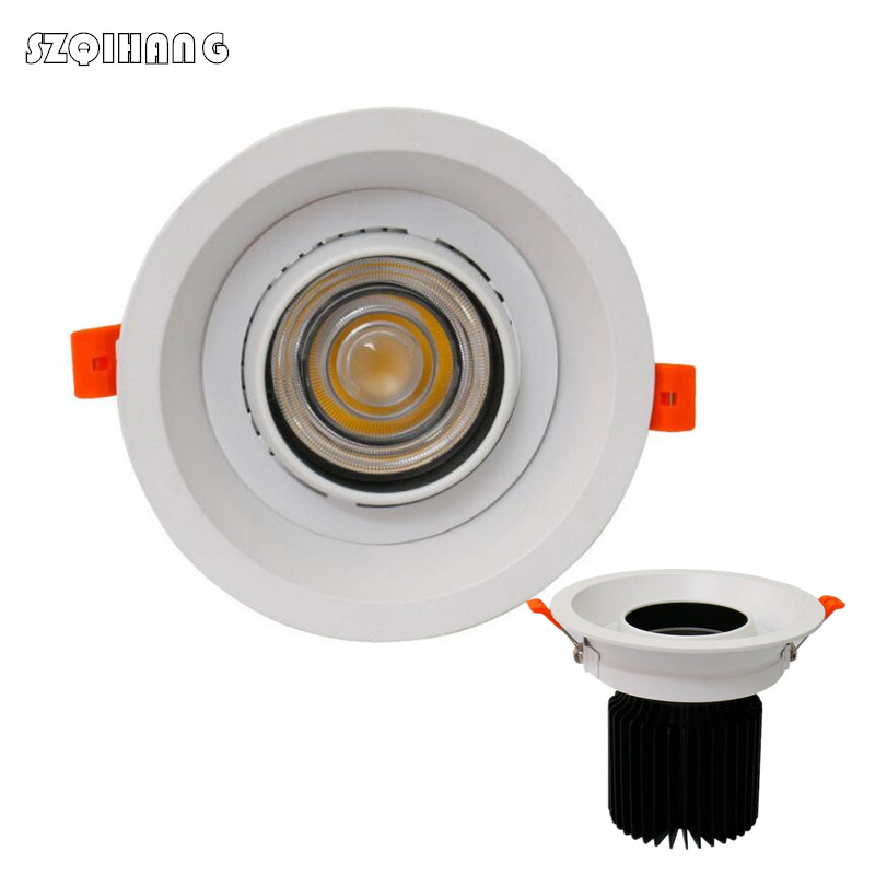 High Quality Dimmable Anti-glare Engineering Lamp Round LED Downlight 15W COB Spot 220V 110V Ceiling Recessed