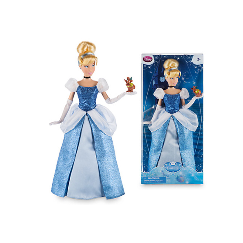Original DISNEY Store fashion Princess Cinderella baby doll Figure toys For children birthday Christmas girl gift