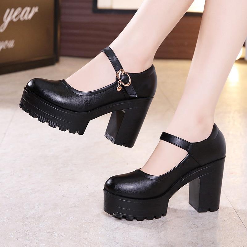Big Size 33 43 Block Heels Platform