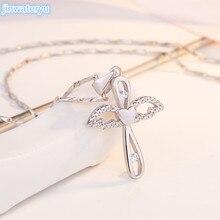 Подвеска Angel cross jinwateryu 999 серебряное ожерелье Подвески на цепочках крест религиозный стиль