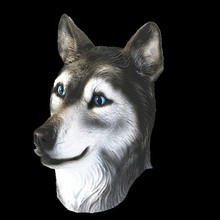 Crazy orTerror Animal Latex Wolf Head Mask For Halloween Party Cosplay latex wolf mask toy for halloween black