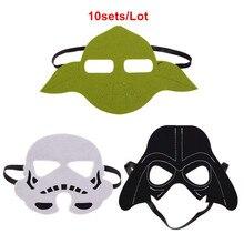 10set Star Wars Mask Darth Vader Yoda commando Superhero Halloween Costumes Cosplay Mask Kids Birthday Party DIY Christmas gull gm 1263 vader fanette mask uv420 2018 new