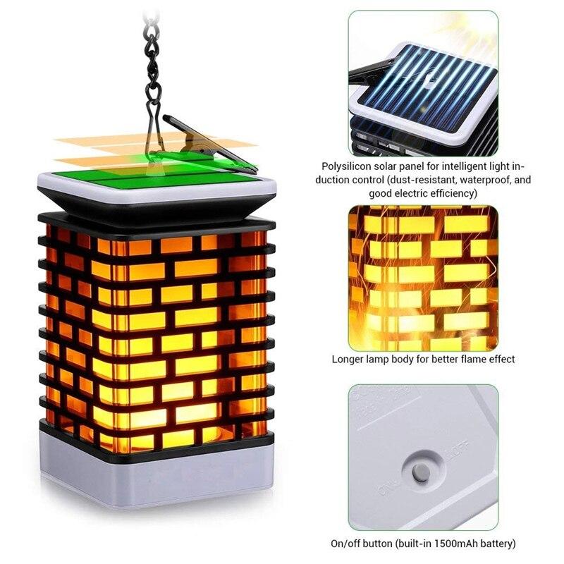quadrados chama cintilação pendurado decoração lâmpada xiaomi foco luz