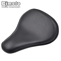 BJMOTO Vintage Motorcycle Cushion Seats Scooter Leather Solo Seat Cafe Racer Seats Fit Harley Honda Suzuki