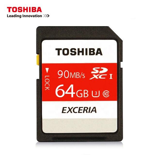TOSHIBA SD SDHC/SDXC UHS-I SDXC SDHC 16 ГБ U1 32 ГБ U3 128 ГБ 64 ГБ U3 Макс Up90M/S карта Памяти SD Карты Поддержка Официальная Проверка