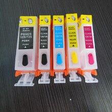 Vilaxh Refill PGI425 CLI426 PGI-425 CLI-426 refillable PGI425 CLI426 ink cartridge for Canon PIXMA MG6140 MG8140 printer