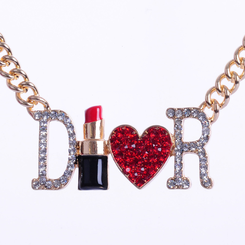 Fashion retro women jewelry full rhinestone letter d r lipstick fashion retro women jewelry full rhinestone letter d r lipstick love heart hiphop pendant necklace free shipping in pendant necklaces from jewelry thecheapjerseys Choice Image