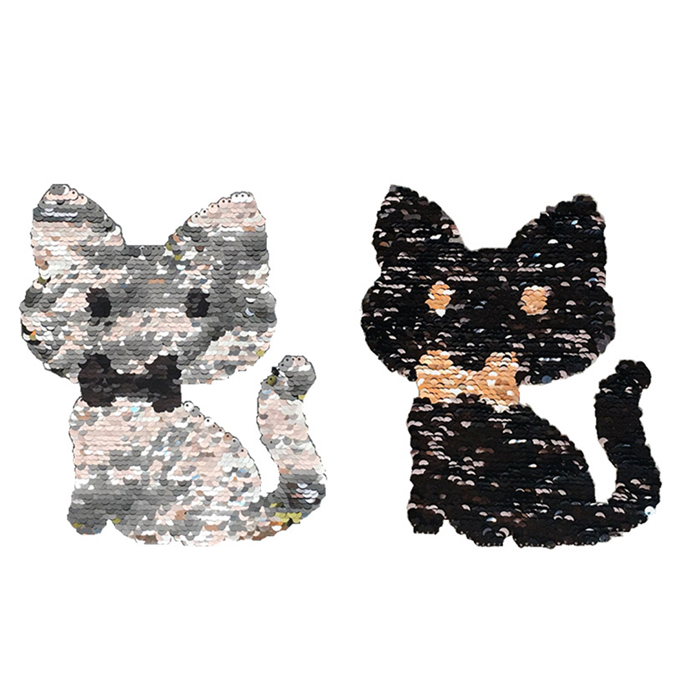 Funny Owl Reversible Shine Sequins Sew On Patches For Fashion Clothes DIY Patch Applique Bag Clothing Coat Sweater Crafts