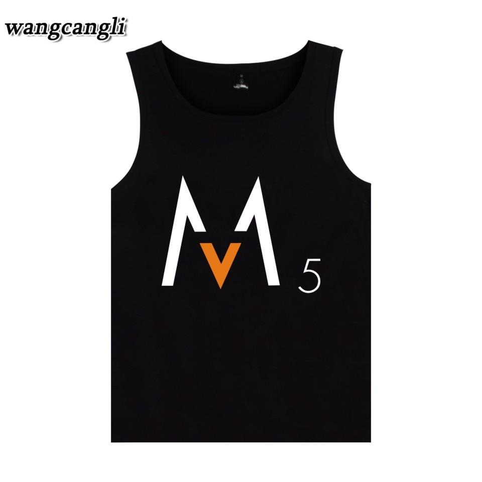 2018 Maroon Five Vest Rock Band Hip Pop Summer Sleeveless Shirt Fashion Tank Top Men Bodybuilding plus size 4XL Streetwear