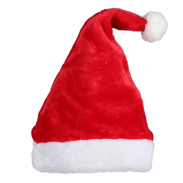 5a0b1f9665c Single tomentellate Christmas Santa Hat Christmas decoration props adult  children christmas hat wedding party supplies