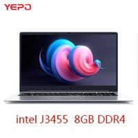 Laptop 15.6 inch 8GB RAM DDR4 128GB/256GB/512GB 1TB SSD intel J3455 Quad Core Windows 10 Notebook Computer FHD Display Ultrabook