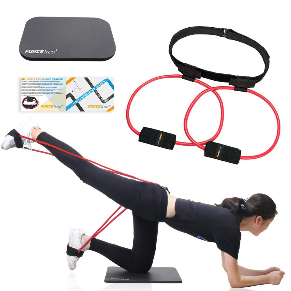 Fitness Women Booty Butt Band Resistance Bands Adjustable Waist Belt Pedal Exerciser for Glutes Muscle Workout Free Bag 17