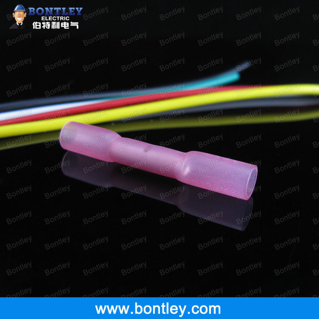 BHT1 Red Heat Shrink Butt Connectors & Splices For 0.5-1.5mm2 , 22-16 AWG Wire