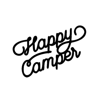 15.2CM*10.8CM For Happy Camper Vinyl Letters Car Sticker Decal Waterproof Exterior Accessories for BMW E36 E46 E60 E90 F20 F10 image