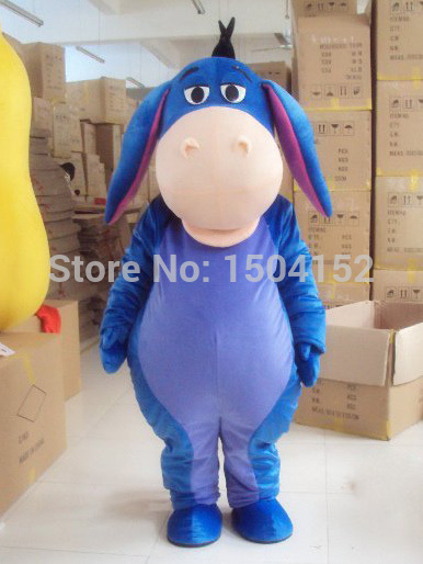 Costume de mascotte d'âne personnage de dessin animé âne bleu Costume d'animal cosplay mascotte produits sur mesure livraison gratuite