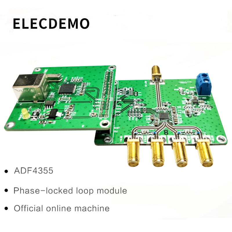 ADF4355 Module Phase Locked Loop Module PLL RF Signal Source Official Network Machine 54M 6.8G Function demo Board-in Demo Board Accessories from Computer & Office