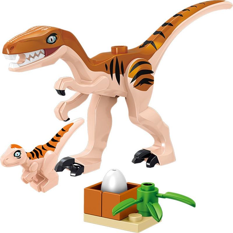8Pcsset Legoingly Mini Big Dinosaurs Dinosaur Egg Building Blocks Jurassic Triceratops Velociraptors Lot Sets Toys for Children (1)