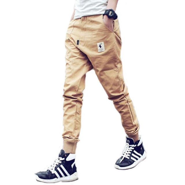 #3901 2017 Spring Autumn Mens joggers  Trousers men Baggy cargo pants men Hip hop pants Harem pants men Casual Fashion Harajuku
