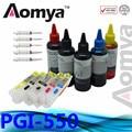 PGI-550/CLI-551 Refill Ink Kit Full Ink Cartridge Suit For Canon IP7250 MG5450 MG5550 MG6450 MG5650 MG6650 IX6850 MX725 MX925