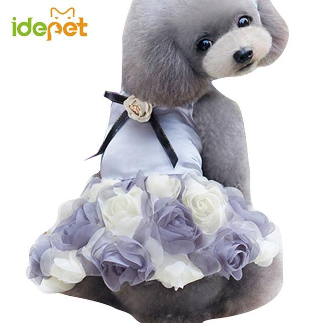 Luxury Dog Wedding Dress Summer Pet Clothes Tutu Dresses Skirt Spring Small Arel Elegant