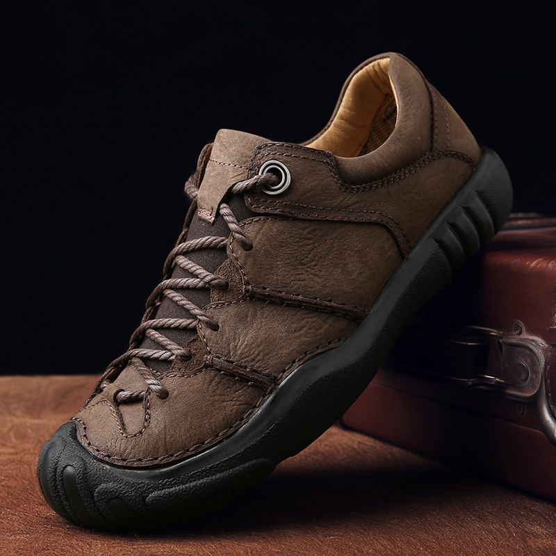 QZHSMY Hiking-Shoes Mountaineering Masculine Outdoors Black Autumn Men Athletic Zapatos