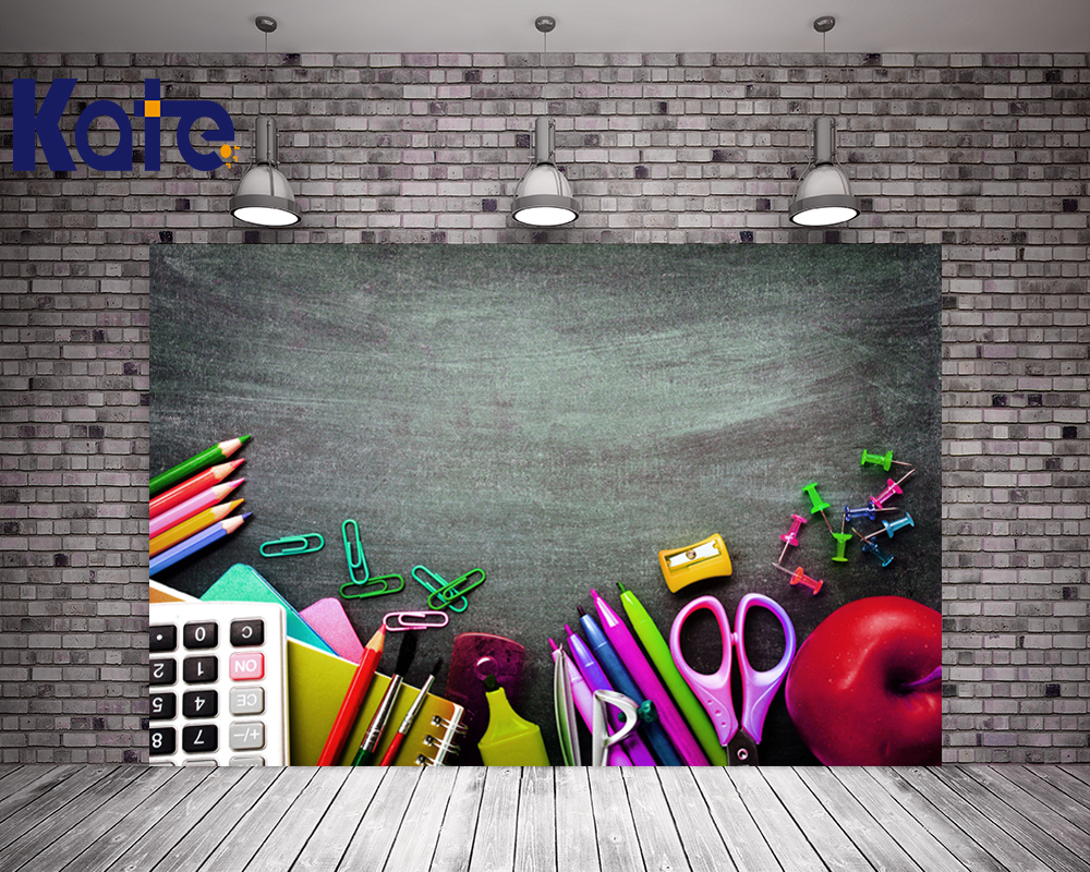 Kate 5x7ft Photography Backdrop Children Blackboard Back to School Graduation Photo Background for Kids Photography Studio стоимость