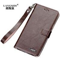 Original LANGSIDI Fashion Genuine Leather Lanyard Business Style Phone Case For Xiaomi Redmi 4X Mobile Phone