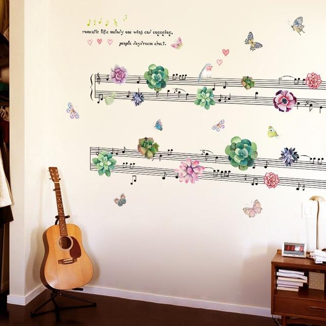 Piante succulente Spettro Musicale Wall Sticker Camera Da Letto ...
