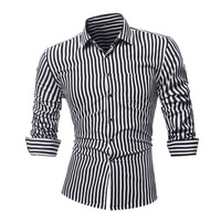 2018 New Men Shirt Striped Long Sleeves Mens Dress Shirts Camisa Masculina Spring Summer Brand Casual