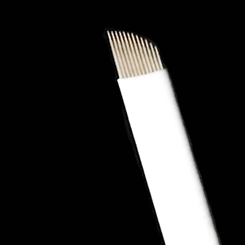 Купить с кэшбэком 50 Pcs 0.25mm 12 Pin Microblading Needles Permanent Makeup Eyebrow Blade For 3D Embroidery Manual Tattoo Pen