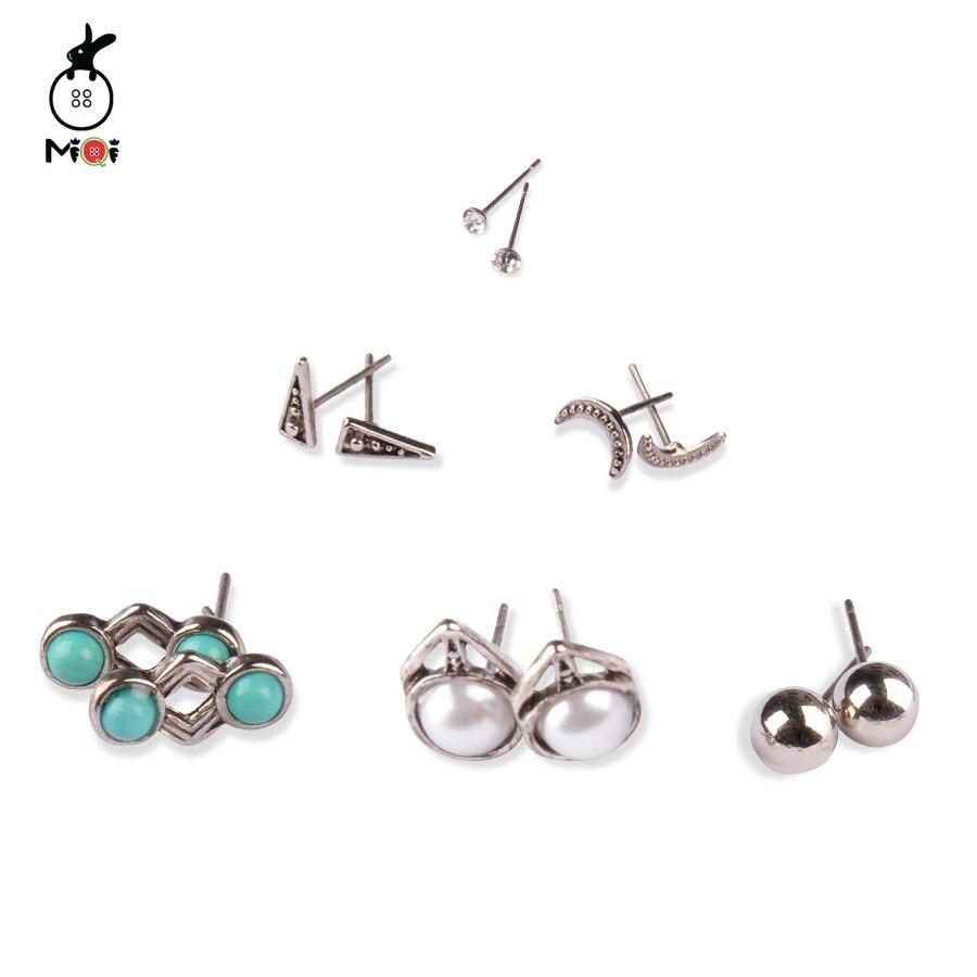 MQ Fashion Earring Sets 6 piezas / conjunto aleación redondo - Bisutería - foto 2
