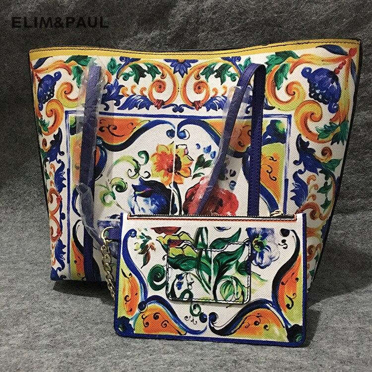 Luxe italie marque sicile ethnique Floral sac en cuir véritable sicilien Shopper fourre-tout célèbre Designer sac à bandoulière sac à main et sac à main