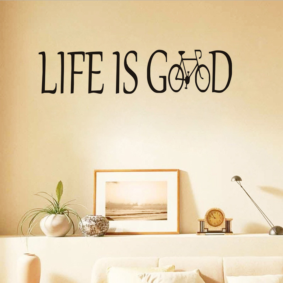 Life Is Good Encouraging Quotes Wall Sticker For Kids Room Wall ...
