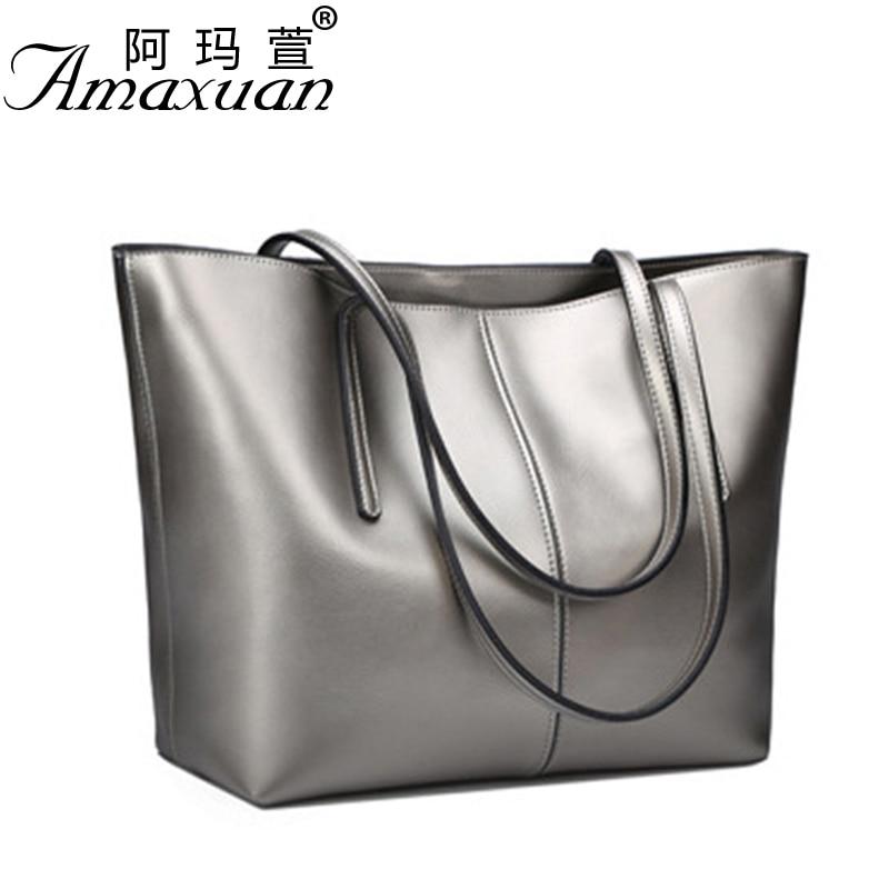 2017 Genuine leather Bags fashion messenger women leather handbags simple should