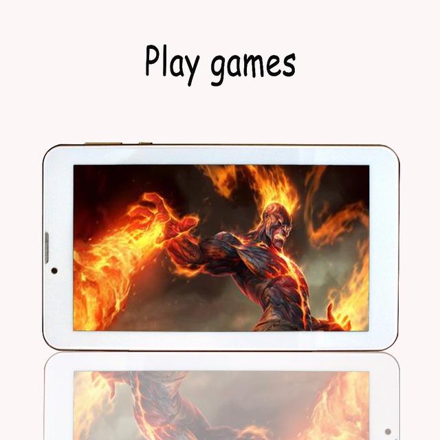 Nuevo Diseño de 7 pulgadas Del Teléfono de Llamada Android 4.4 Tableta Pc Sim tarjeta 3g bluetooth apoyo google play mercado mtk cpu wcdma red