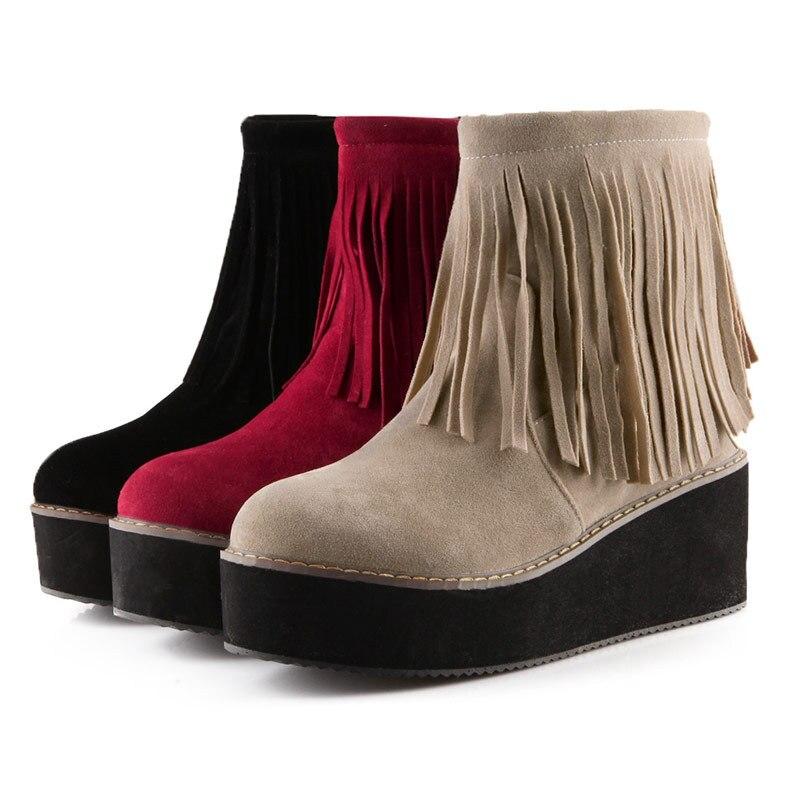 Aliexpress.com : Buy 2016 fringe boots for women platforms ankle ...