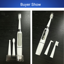 SEAGO Electric Toothbrush 35000vpm Adult Toothbrushes Gum Health Battery Sonic Toothbrush 5 Replacement Brush Heads SG910