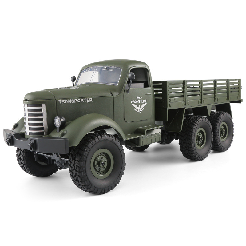 New 2.4GHz 4wd 6wd <font><b>RC</b></font> <font><b>Truck</b></font> Toy 4/6 <font><b>Wheels</b></font> Drive Remote Control Military <font><b>Truck</b></font> Transporter Model with LED Light Car Toys for Boy image