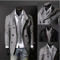 England style fashion stand collar and double breasted wool coat men original Men's Clothing slim fit jaqueta masculina/ndy17