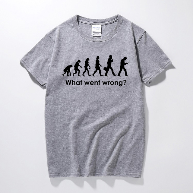 What Went Wrong Evolution T Shirt Funny Birthday Gift Present For
