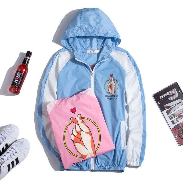 Мода Куртка Солнцезащитный Крем Одежда Тенденция Мужчины Женщина HoodiesTop Версия Скейтборд Пальто Ветрозащитный Равномерное SUPREM Пары Толстовки